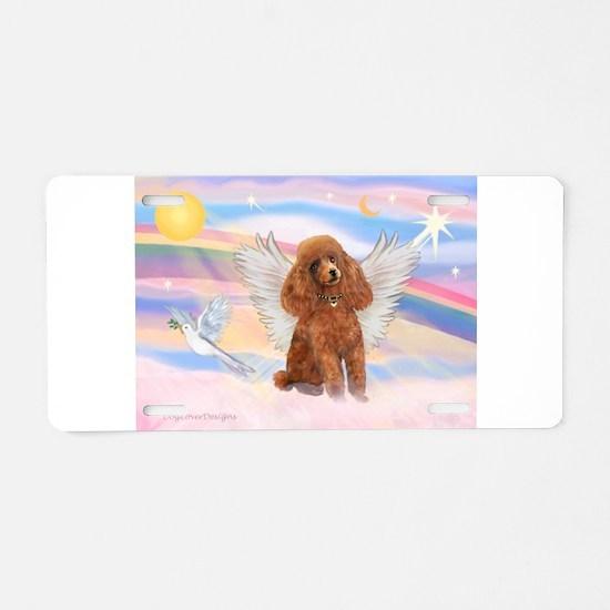 Angel/Poodle (Aprict Toy/Min) Aluminum License Pla