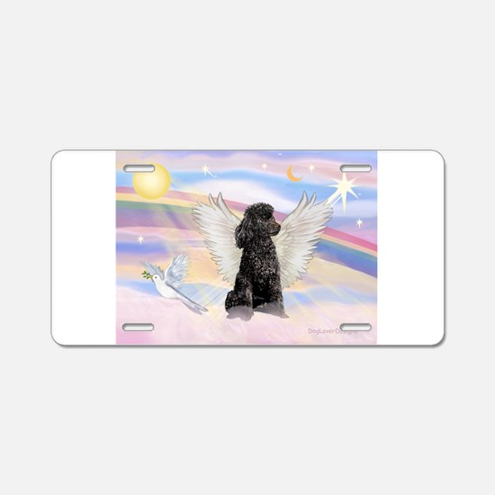 Angel/Poodle (blk Toy/Min) Aluminum License Plate