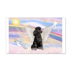 Angel/Poodle (blk Toy/Min) 22x14 Wall Peel
