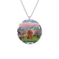 Cloud Angel/Poodle (Apricot) Necklace