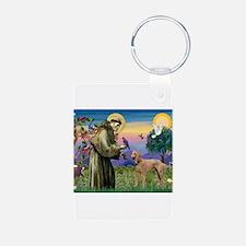 St Francis / Poodle Std (a) Keychains