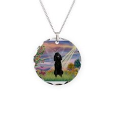 Cloud Angel /Poodle Std (blk) Necklace