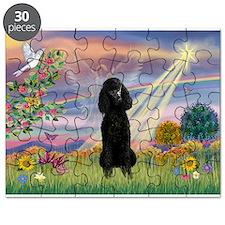 Cloud Angel /Poodle Std (blk) Puzzle