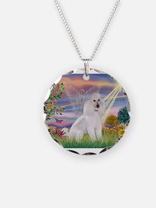 Cloud Angel /Poodle std (w) Necklace