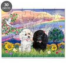 Cloud Angel / Poodle pair Puzzle