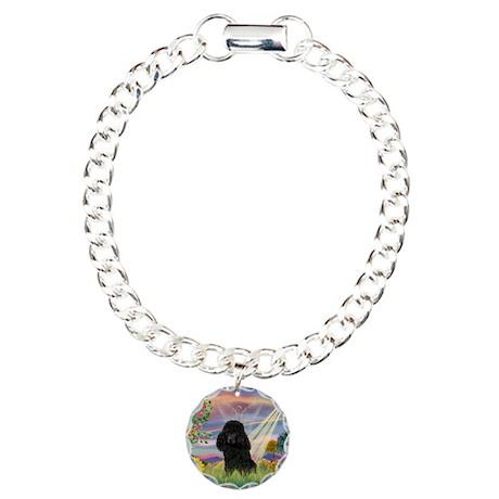Cloud Angel / Poodle (blk#2) Charm Bracelet, One C