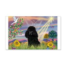 Cloud Angel / Poodle (blk#2) 22x14 Wall Peel