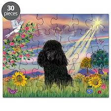 Cloud Angel / Poodle (blk#2) Puzzle