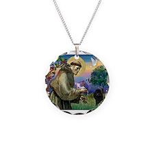 St Francis / Poodle(blk min) Necklace