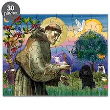 St Francis / Poodle(blk min) Puzzle