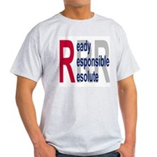 Coast Guard Auxiliary <BR>Grey T-Shirt