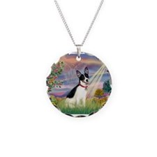 Cloud Angel / Rat Terrier Necklace