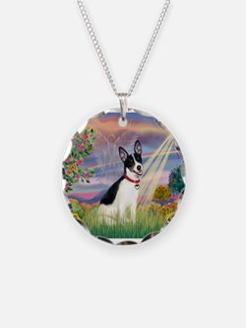 Cloud Angel / Rat Terrier Necklace