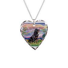 Cloud Angel / Rottweiler Necklace