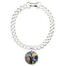 St Francis / Min Schnauzer (g Bracelet