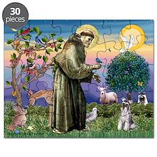 St Francis / Min Schnauzer (g Puzzle