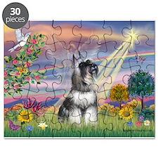 Cloud Angel / Min Schnauzer ( Puzzle