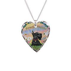 Miracles with a Scottish Terr Necklace Heart Charm