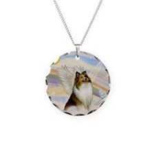 Sable Sheltie Angel Necklace