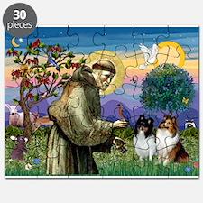 St Francis / Sheltie pair Puzzle