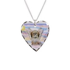 Shih Tzu / Angel Necklace Heart Charm