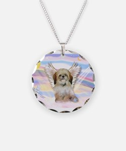 Shih Tzu / Angel Necklace Circle Charm