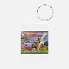Cloud Angel & Husky Keychains