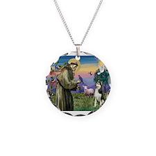 St Francis & Husky Necklace
