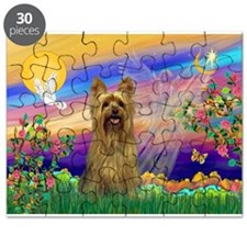 Guardian Angel / Silky Terrie Puzzle