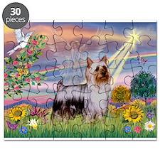 Cloud Angel /Silky Terrier Puzzle