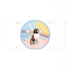 St. Bernard Angel Dog Aluminum License Plate