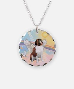 St. Bernard Angel Dog Necklace
