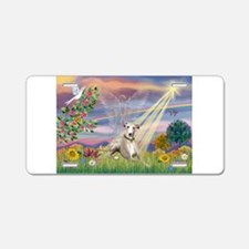Cloud Angel & Whippet Aluminum License Plate