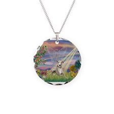 Cloud Angel & Whippet Necklace
