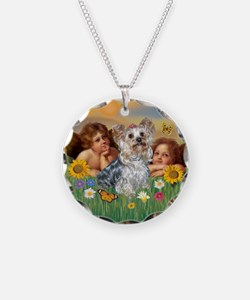 Angels with Yorkie Necklace