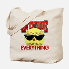 Attitude-Softball Tote Bag