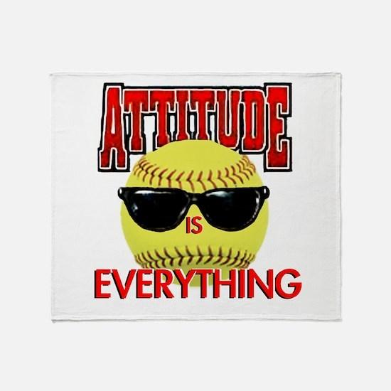 Attitude-Softball Throw Blanket