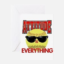 Attitude-Softball Greeting Card