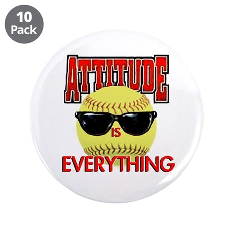 "Attitude is Everything 3.5"" Button (10 pack)"