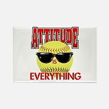 Attitude-Softball Rectangle Magnet