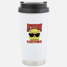 Attitude-Softball Travel Mug