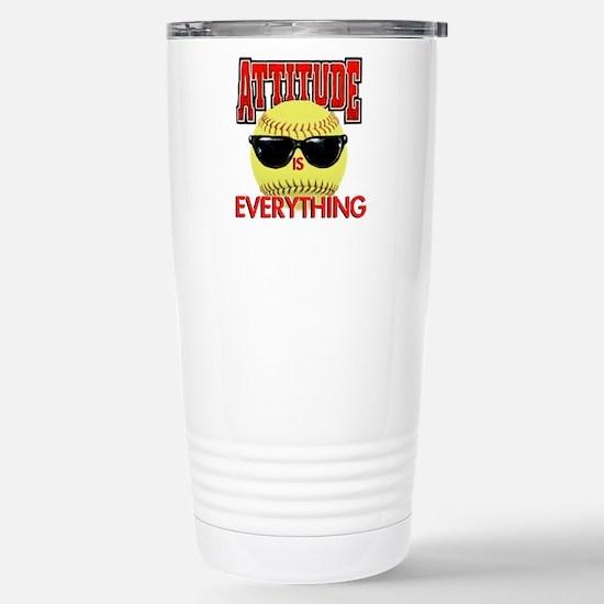 Attitude-Softball Travel Mug