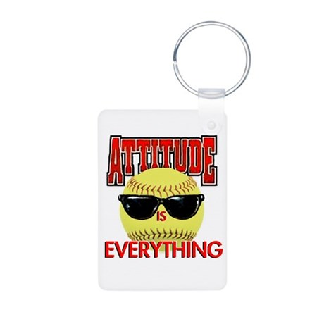 Attitude is Everything Aluminum Photo Keychain