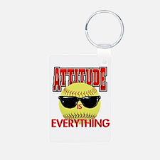 Attitude-Softball Keychains