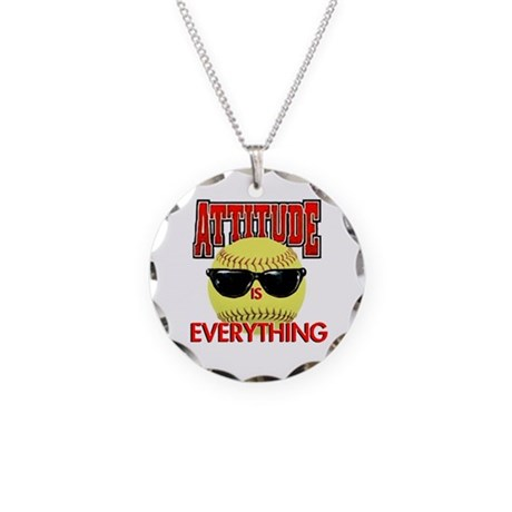 Attitude is Everything Necklace Circle Charm