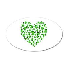 My Irish Heart 22x14 Oval Wall Peel
