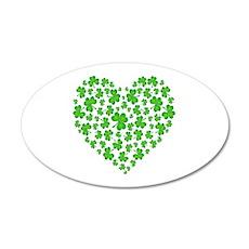 My Irish Heart 38.5 x 24.5 Oval Wall Peel