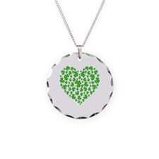 My Irish Heart Necklace Circle Charm