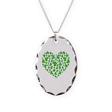 My Irish Heart Necklace Oval Charm