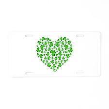 My Irish Heart Aluminum License Plate